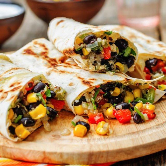Burritos i ovn (veggie)
