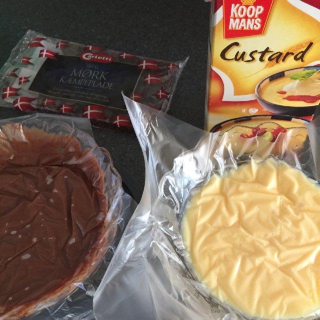 Custard vanilie og chokolade