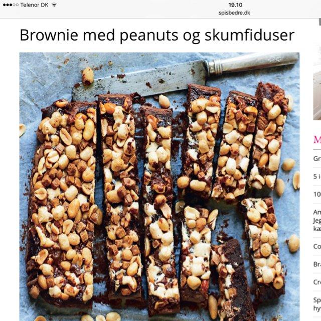 Brownie m/ skumfiduser, peanut