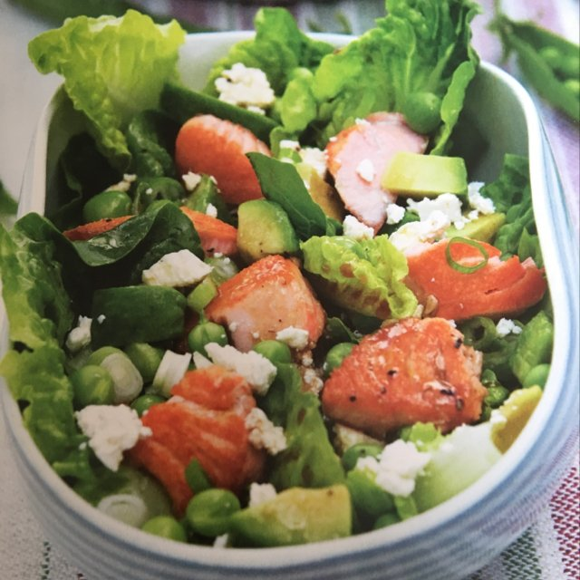 Grøn salat m laks